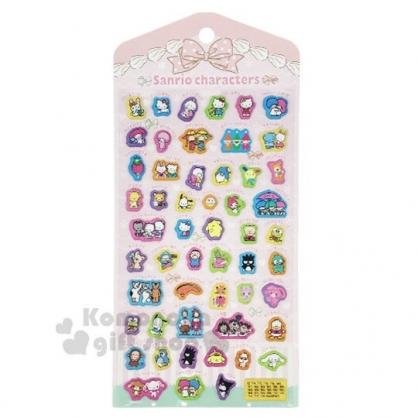 〔小禮堂〕Sanrio大集合 立體造型泡棉貼紙《粉.角色》裝飾貼.黏貼用品