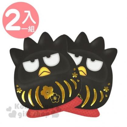 〔小禮堂〕酷企鵝 迷你達摩造型直式紅包袋組《2入.黑》信封袋.禮金袋