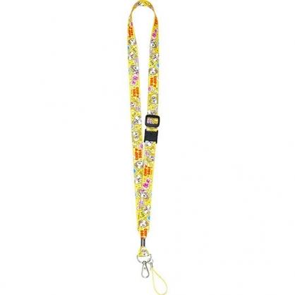 〔小禮堂〕迪士尼 奇奇蒂蒂 多功能頸繩《橘.糖果》掛飾.頸掛繩.證件帶