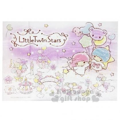 〔小禮堂〕雙子星 單人野餐墊《紫.汽球》60x80cm.海灘墊.銅板小物