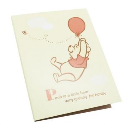 〔小禮堂〕迪士尼 小熊維尼 日製造型自黏便利貼本《黃.拉氣球》標籤貼.便條紙.N次貼