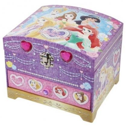 〔小禮堂〕迪士尼 公主 雙層掀蓋珠寶盒附鏡玩具組《紫.鑽石》化妝玩具.兒童玩具