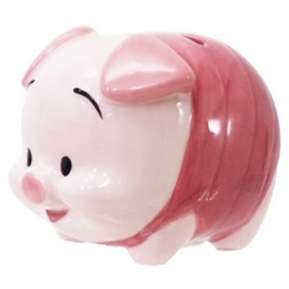 〔小禮堂〕迪士尼 小熊維尼 小豬 迷你造型陶瓷存錢筒《粉》擺飾.撲滿.儲金筒