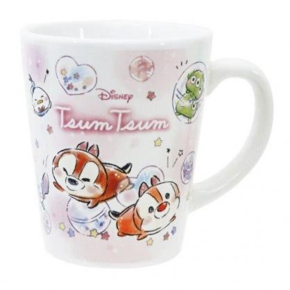 〔小禮堂〕迪士尼TsumTsum 陶瓷馬克杯《粉.夾娃娃》茶杯.咖啡杯