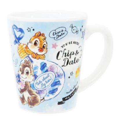 〔小禮堂〕迪士尼 奇奇蒂蒂 陶瓷馬克杯《藍.燈泡飲料》茶杯.咖啡杯