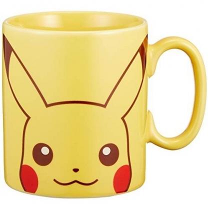 〔小禮堂〕神奇寶貝Pokemon 皮卡丘 日製陶瓷馬克杯《黃.大臉》咖啡杯.茶杯.金正陶器
