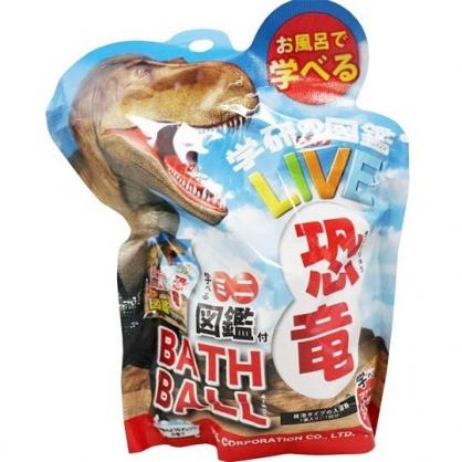 〔小禮堂〕恐龍 造型入浴球《5款隨機.藍棕.暴龍》入浴劑.泡澡球