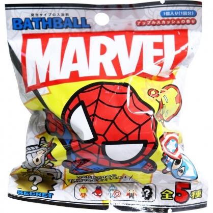 〔小禮堂〕漫威英雄Marvel 造型入浴球《5款隨機.黃紅.Q版》入浴劑.泡澡球