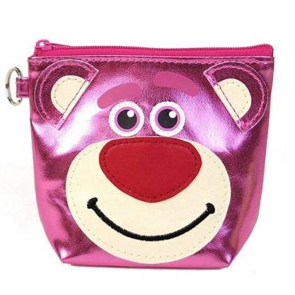 〔小禮堂〕迪士尼 玩具總動員 熊抱哥 亮面皮革船形零錢包《桃.大臉》耳機包.收納包.掛飾