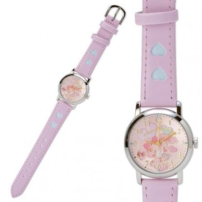〔小禮堂〕蹦蹦兔 造型皮革錶帶腕錶手錶《粉.抱愛心》淑女錶.時尚錶.透明盒裝
