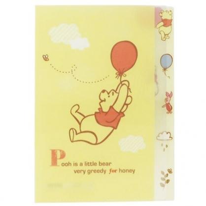 〔小禮堂〕迪士尼 小熊維尼 日製L型分類文件夾《A4.黃.拉汽球》資料夾.L夾.檔案夾