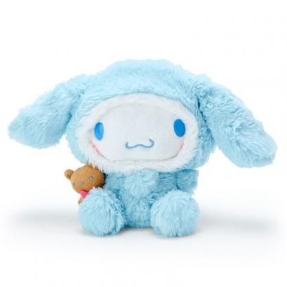 〔小禮堂〕大耳狗 套頭造型帽絨毛玩偶娃娃《M.藍白》擺飾.玩具