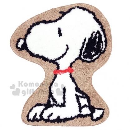 〔小禮堂〕史努比 全身造型絨毛吸水腳踏墊《棕白》58x65cm.浴室地墊.地毯
