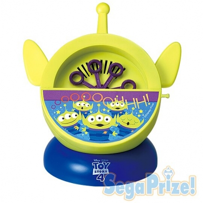 〔小禮堂〕迪士尼 三眼怪 大臉造型自動旋轉吹泡泡機《綠藍》兒童玩具