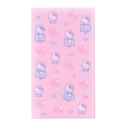 〔小禮堂〕Hello Kitty 日製抗菌口罩收納夾《粉.護士》收納包.口罩夾