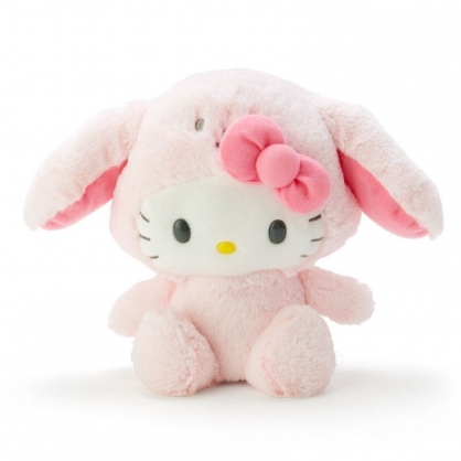 〔小禮堂〕Hello Kitty 音樂動動絨毛玩偶娃娃《粉白》說話娃娃.擺飾.玩具