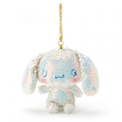 〔小禮堂〕大耳狗 亮片玩偶娃娃吊飾《藍白》掛飾.鑰匙圈.鎖圈