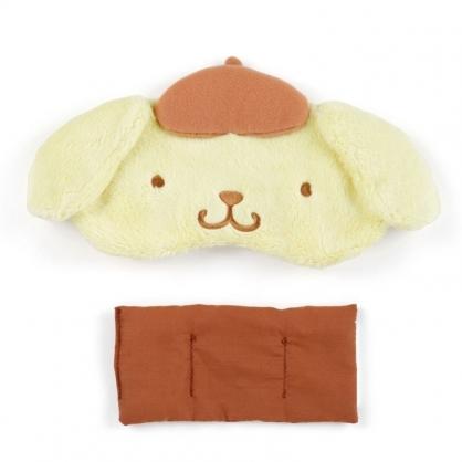 〔小禮堂〕布丁狗 立體耳朵造型絨毛熱敷眼罩《黃棕》舒壓眼罩.加熱眼罩