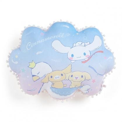 〔小禮堂〕大耳狗 雲朵造型絨毛抱枕靠墊《藍白》午睡枕.靠枕.純白天鵝系列