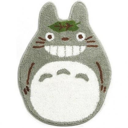 〔小禮堂〕宮崎駿Totoro龍貓 全身造型絨毛吸水腳踏墊《灰白》48x65cm.浴室地墊.地毯