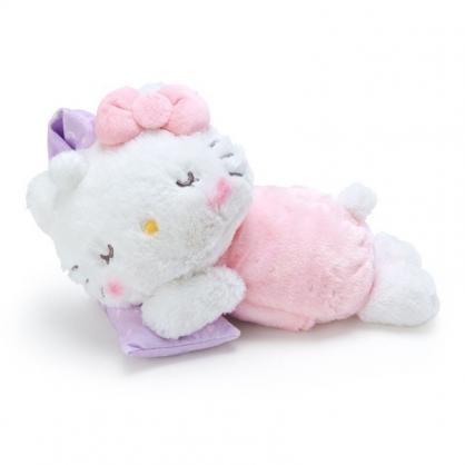 〔小禮堂〕Hello Kitty 可加熱絨毛玩偶娃娃抱枕《粉白》熱敷袋.暖暖靠枕