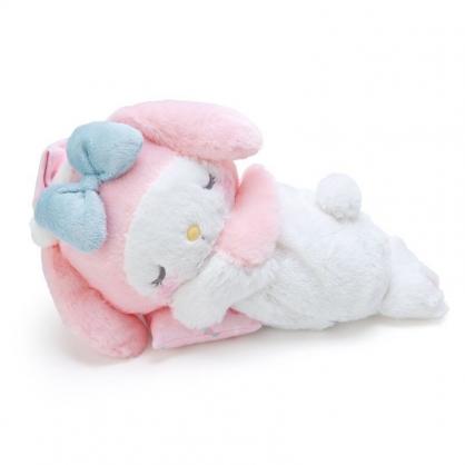 〔小禮堂〕美樂蒂 可加熱絨毛玩偶娃娃抱枕《粉白》熱敷袋.暖暖靠枕