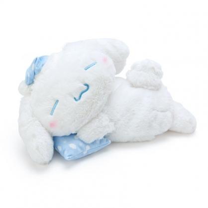〔小禮堂〕大耳狗 可加熱絨毛玩偶娃娃抱枕《藍白》熱敷袋.暖暖靠枕