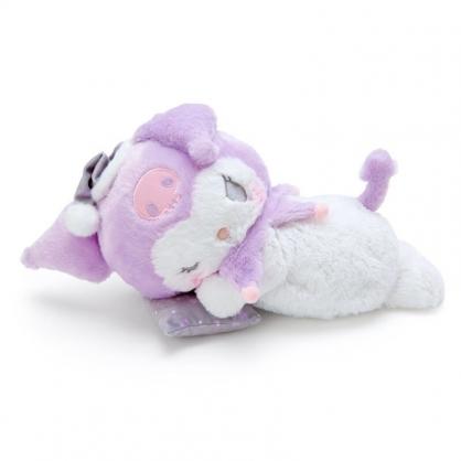 〔小禮堂〕酷洛米 可加熱絨毛玩偶娃娃抱枕《白紫》熱敷袋.暖暖靠枕