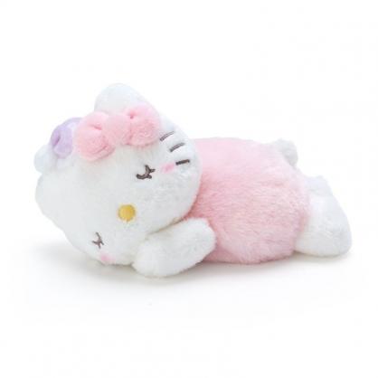 〔小禮堂〕Hello Kitty 迷你可加熱絨毛玩偶娃娃《粉白》熱敷袋.暖暖袋