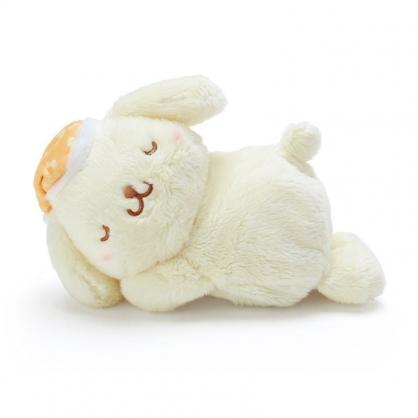 〔小禮堂〕布丁狗 迷你可加熱絨毛玩偶娃娃《黃橘》熱敷袋.暖暖袋