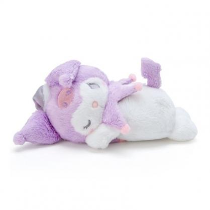 〔小禮堂〕酷洛米 迷你可加熱絨毛玩偶娃娃《白紫》熱敷袋.暖暖袋