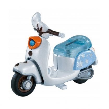 〔小禮堂〕迪士尼 冰雪奇緣2 雪寶 TOMICA小汽車 造型摩托車《藍白》公仔.模型.玩具