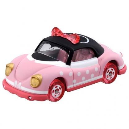 〔小禮堂〕迪士尼 米妮 TOMICA小汽車 造型金龜車《DM-15.粉黑》公仔.模型.玩具
