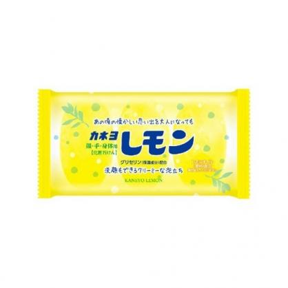 〔小禮堂〕日本KANAYO 保濕香氛洗臉肥皂組《3入.黃》檸檬香.洗顏皂.清潔皂