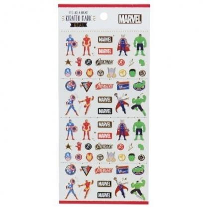 〔小禮堂〕漫威英雄Marvel 造型燙金貼紙組《紅.角色》手帳貼紙.裝飾貼.黏貼用品