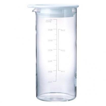 〔小禮堂〕日本HARIO 日製透明玻璃密封罐《白蓋》700ml.保鮮罐.果醋瓶