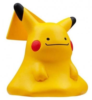 〔小禮堂〕神奇寶貝Pokemon 百變皮卡丘 迷你塑膠公仔玩具《黃》寶可夢公仔.模型