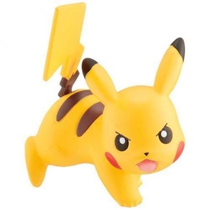 〔小禮堂〕神奇寶貝Pokemon 皮卡丘 迷你塑膠公仔玩具《黃.趴姿》寶可夢公仔.模型