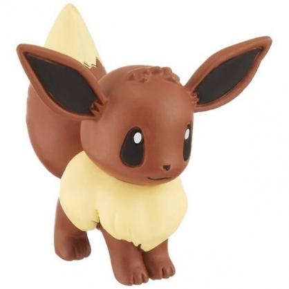 〔小禮堂〕神奇寶貝Pokemon 伊布 迷你塑膠公仔玩具《棕》寶可夢公仔.模型