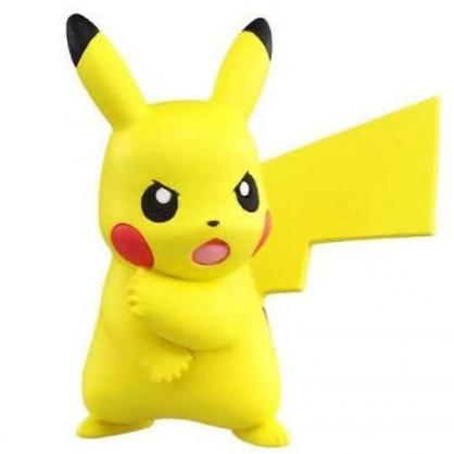 〔小禮堂〕神奇寶貝Pokemon 皮卡丘 迷你塑膠公仔玩具《黃.站姿》寶可夢公仔.模型