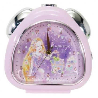 〔小禮堂〕迪士尼 長髮公主 三角型鬧鐘《紫.閉眼》桌鐘.時鐘