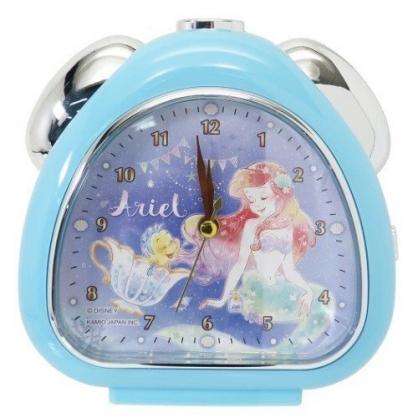 〔小禮堂〕迪士尼 小美人魚 三角型鬧鐘《藍.閉眼》桌鐘.時鐘
