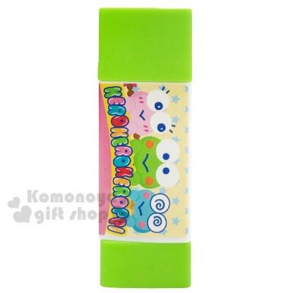 〔小禮堂〕大眼蛙 三角形口紅膠《綠.大臉》膠水.黏貼用品.學童文具