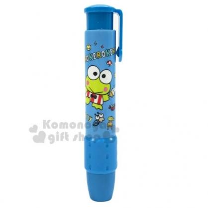 〔小禮堂〕大眼蛙 筆型橡皮擦《藍.油漆刷》擦布.學童文具