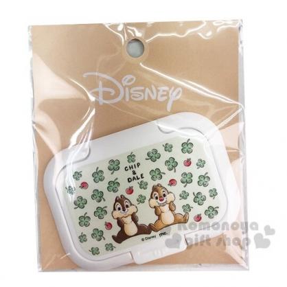 〔小禮堂〕迪士尼 奇奇蒂蒂 日製塑膠方形濕紙巾蓋《綠白.幸運草》濕巾盒蓋.密封蓋