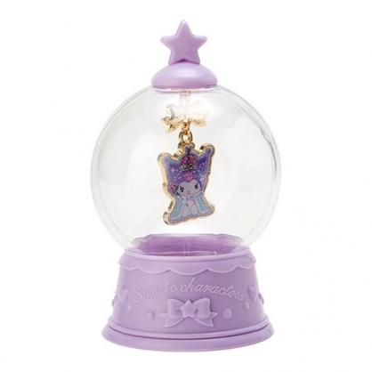 〔小禮堂〕酷洛米 水晶球造型合金項鍊《紫金》長項鍊.金鍊.2019聖誕系列