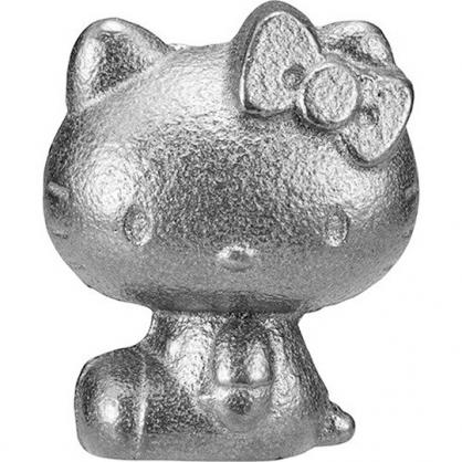 〔小禮堂〕Hello Kitty 日製南部鐵器鐵玉《深灰.側坐》補鐵