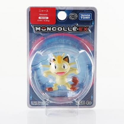 〔小禮堂〕神奇寶貝Pokemon 喵喵 迷你塑膠公仔玩具《米黃》寶可夢公仔.模型