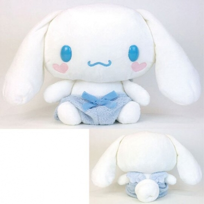 〔小禮堂〕大耳狗 絨毛玩偶娃娃《XL.藍白翅膀》擺飾.抱枕