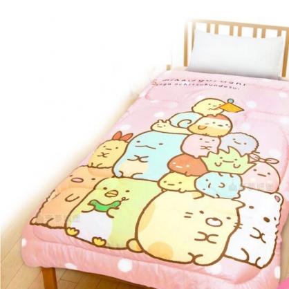 〔小禮堂〕角落生物 雙人四季被《粉.疊坐》5x6尺.毯被.厚被